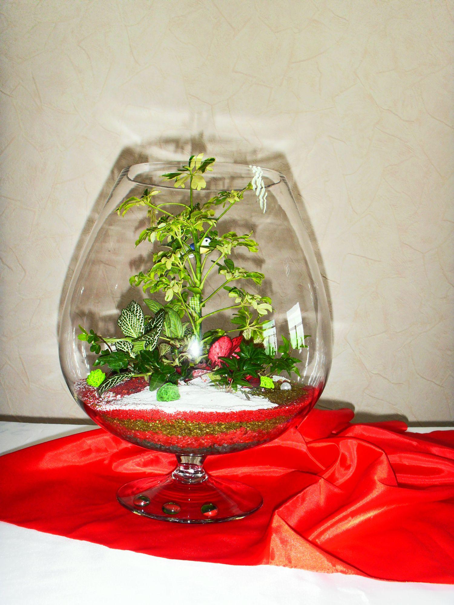 Живые цветы в стекле пошагово